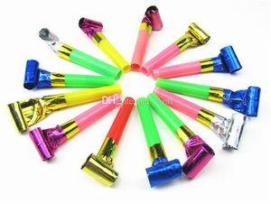 Festa de aniversário festivo engraçado Colorful Whistles Crianças Childrens sopro do dragão Aniversário do bebê Blowout Supplies presentes Brinquedos