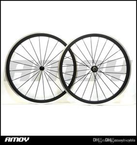 노바 텍 허브 자전거 바퀴와 합금 제동 표면 700C의 38mm 탄소 섬유 클린 처 자전거 도로 자전거 바퀴