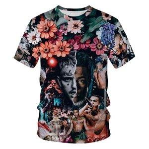 Ropa de diseño para hombre XXXTENTACION verano camisetas 3D Digital Impreso Manga corta EE.UU. Rapero Masculino O Cuello camisetas Adolescentes