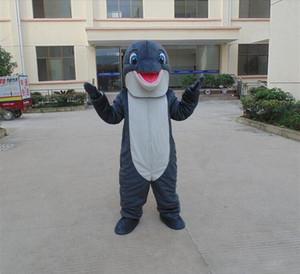 Costume de dauphin adulte Mascotte de fête d'anniversaire de dauphin gris mascotte Costume Animal Dolphin Livraison gratuite