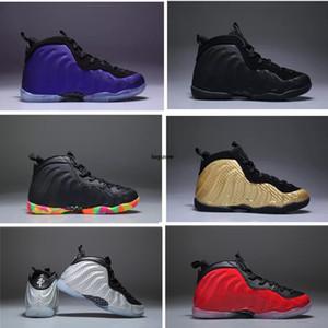 Aubergine Penny Hardaway chaussures de basket-ball d'enfants Fruité noir PEBBLES enfants en bas âge de sport de sport Pippen Duncan enfant en bas âge sneaker
