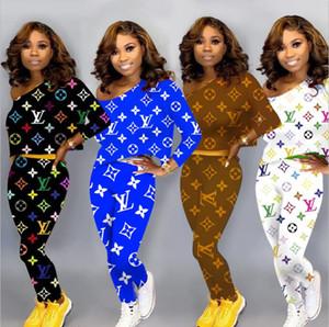 2020 Mulheres Roupa Dois conjuntos de peças 2 peças conjunto mulher mulheres suar ternos Plus Size Jogging Suit Sport macio manga comprida Treino Sportswear