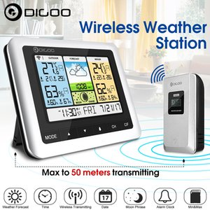 Digoo DG-TH8888 extérieur Station Météo Horloge + Prévision capteur USB sans fil Thermomètre numérique hygromètre 3CH Lune SH190924 Phrase