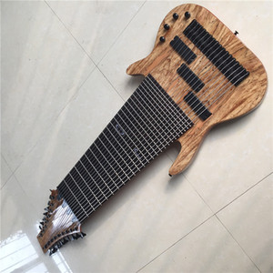 2019 New + Factory + Custom 17 Strings Electric Bass Guitar Rosewood Fingerboard no Fret Inlay bass free shipping 17 string bass