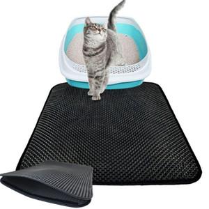 EUA Double-Layer Litter Cat Box Mat Trapper dobrável Pad Pet tapete EVA Cat espuma de borracha Bed