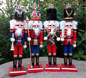 30 CM Ahşap Noel Fındıkkıran Askerler Kukla Zakka Yaratıcı Masaüstü Dekorasyon Büyük Boy Noel Süsler Çizim Ceviz Asker