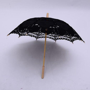 Wedding Lace Guarda-chuva Renda Craft Renda Guarda-chuva Wooden Hecho Presentes Presentes Westerns Eventos Do Vintage Decoração Parasol Sun Guarda-sol DHD96