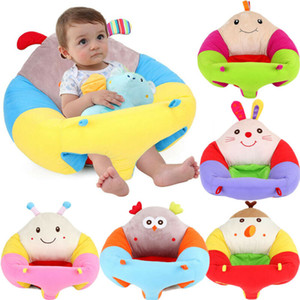 Cute Baby Cartoon Sofa Support Seat Soft Chair Soft Cover Plush Learn To Sit Up Cushion Portable Learning Chair Washable Cover