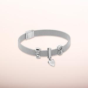 Argento 925 rosa riflessione logo clip di fascino riflessione clip di corona fascino eterno per Pandora stile del braccialetto