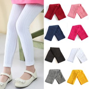Kids Elastic Leggings 9 Colors Solid Tight Trousers Big Girls Spring Autumn Knitted Pants Teens Toddler Tights US 060609