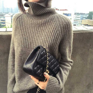 Frauen Pullover neuen Frühlings-High-Quality Turtleneck Langarm weicher Kaschmir-Pullover Female Fashion Warm Fest Strick Pullover