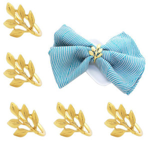 Leaf Napkin Ring Christmas Napkin Rings Holders for Christmas Dinners Parties Wedding Adornment Table Decoration Accessories