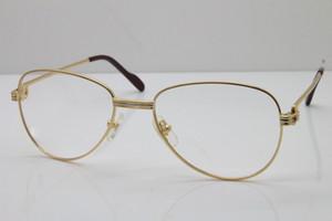 Trasporto del commercio all'ingrosso di oro occhiali cornice cornici metalliche rotonda unisex occhiali Carter 1156479 epoca originale oro Occhiali C Decoration