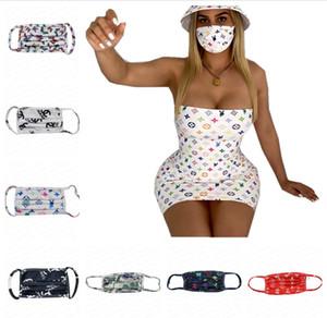 Yüz maskeleri tasarımcı maske yıkanabilir ultraviyole geçirmez toz geçirmez solunum sürme bisiklet spor baskı ağız maskeleri Erkek Kadın açık sıcak E4105