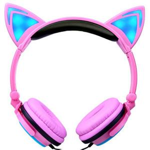 2019 cuffie dell'orecchio di gatto LED Orecchio cuffia auricolare gatto lampeggiante Glowing Headset Gaming Auricolari per adulti e bambini