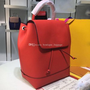 las mujeres LOCKME Mini patentes mochila mochilas de cuero bolso de la letra de la moda mochila de diseño de lujo de la marca Mochila en piel genuina M54573