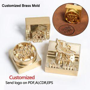 Image de marque Stamp Logo personnalisé embossage à chaud Staming Moule Stamping cuir pour chaussures en cuir Brûler individualité bois