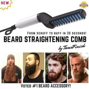 Styler multifuncional Peine Cepillo Barba enderezadora Enderezar pelo alisado de peine rizador de pelo de cabello rápida para los hombres