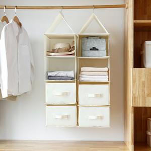 Baffect 4 طبقات قابلة للطي تخزين حقيبة نوم معلقة تخزين مربع مع درج الغبار واقية من الملابس لعبة هات منظم حساب المشترك