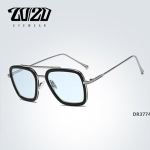 Design Polarized Vintage Unisex Retro Aluminum Tony Stark Sunglasses Men Fashion Sun Glasses For Women gafas de sol mujer T200106DR3774