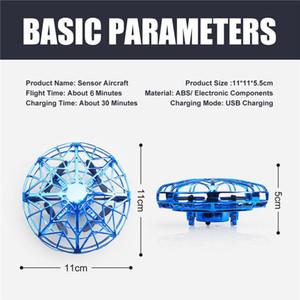 Anti-çarpışma LED Uçan Helikopter Direnç UFO Aircraft Algılama Mini İndüksiyon Drone UFO oyuncaklar Çocuklar Elektrik Elektronik Oyuncak düşen etmek