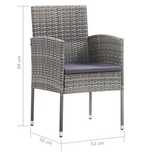 Garden chairs 2 pcs in Anthracite Polyrattan