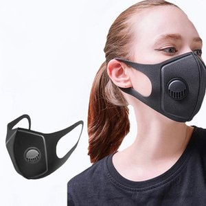 In Stock !! PM2.5 Protective Masks Black Mask With Breathing Valve Three-dimensional Sponge Men And Women Dustproof Breathable EEA1481