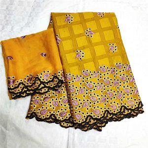 Bordado de alta calidad Dubai Lace Fabric 2019 African Nigeria Cotton Lace Brocade Fabric Swiss Voile Lace en SuizaLYA24-5