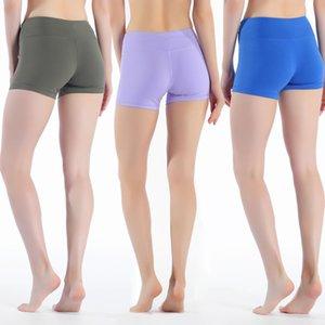 LU-31 polainas de las mujeres Lu cortos de yoga pantalones de cintura alta yogaworld gimnasia de los deportes desgaste elástico aptitud Señora general Medias color sólido entrenamiento