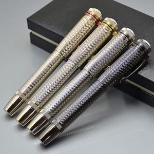 Alta qualidade Herança série 1912 Set Roller ball Pen Prata-Preto de Metal artigos de papelaria material de escritório da Escola com o Monte Marcas Escrever Canetas