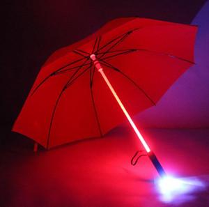 Luz LED paraguas fresco de Blade Runner Light Saber flash Rose Paraguas Corredor de la sombra de la linterna de la botella Paraguas SN198 del producto Inicio