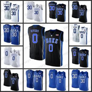 Duke Blue Devils Баскетбол Джерси Mens 30 Антонио Vrankovic 0 Остин Риверс 2019 прошитого Колледжа герцог синие черти баскетбол Джерси