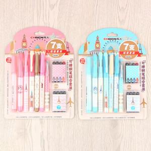 Negocio borrables Fountain Cartuchos de tinta con tinta Sac en Fuentes de Corea Niños Estudiantes regalo Papel de la escuela Oficina