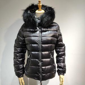 Новое пальто горячей продажи женщин куртки зимнее пальто утолщение женской одежды капюшоном пуховик Тонкий 100% Fox мех Parka S-XL