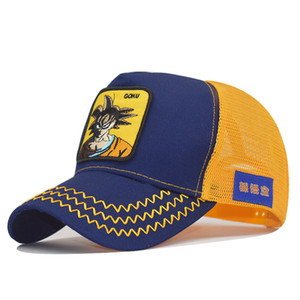 Hot Selling High Quality Animal Baseball Cap Anime Dragon Ball Sun Wukong Hat Double Mesh Cap Embroidered Cap