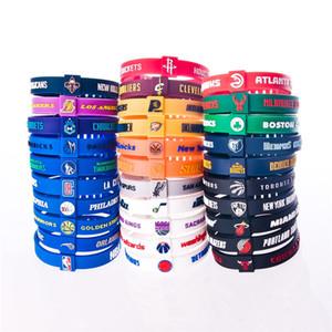 Bandas de baloncesto ajustable Pulsera Estrella Deportes de caucho de silicona pulsera de la correa para los aficionados al baloncesto y Colores Multi Tipo