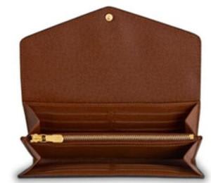 최고 품질의 브랜드 새로운 가죽 지갑 여성 긴 지갑 클러치 핸드백 상자 SARAH 디자인 예술 스타일
