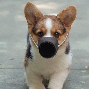 Haustiere Mundschutz Hundegesichtsmasken Respirator Mascherine Cloth Hunde Masken Anti Biting Barking Geräte 5fk UU