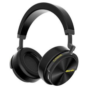 전화 및 스포츠에 마이크가 새로운 Bluedio T5 능동형 소음 취소 무선 블루투스 헤드폰 휴대용 헤드셋