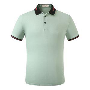 Luxury menswear designer Polo T-shirt summer cucci short sleeve lapel short sleeve shirt Polo shirt fashion brand Medusa Polo shirt