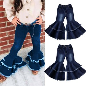 Fashion Toddler Kids Baby Girls Bell-Bottoms Pants Denim Wide Leg Jeans Flare Trousers 2-7Y