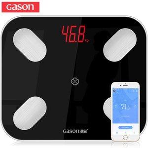 GASON S4 Body Fat Scale Floor Scientific Smart Electronic LED Digital Weight Bathroom Balance Bluetooth APP Android or IOS Y200106