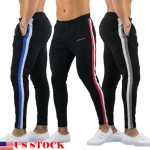 2019 Jogger Pant Uomo Athletic allentato Sweatpant allenamento di ginnastica Slim Fit con pantaloni delle tasche Streetwear Plus Size