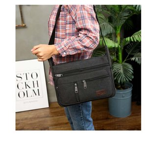 Anawishare Vintage Messenger Bags Canvas Crossbody Bags For Men Shoulder Business Handbags High Quality Yt77