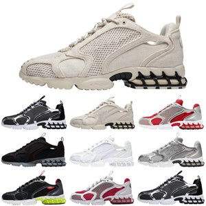 stussy x nike air zoom spiridon in gabbia 2 fossil uomo donna scarpe da corsa triple white cool grey outdoor uomo sneakers sport sneakers runners