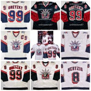 Hombres Jersey Vintage 99 Wayne Gretzky Ene Mertzig 1998-1999 New York Rangers de hockey jerseys Personalizar cualquier nombre y número