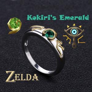 Zelda Yüzük Sheikah Göz Slate Kokiris Zümrüt Ayar 925 Gümüş sevgililer Günü Hediye Nişan Yüzüğü Y19061003