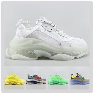 2020 cristal inferior calçados casuais Chaussures Triple S Low Old Dad sapatilha Combinação Soles Botas das mulheres dos homens Sapatos