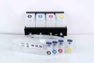 4 couleur SSCI / bulk système d'encre pour Roland Mutoh VJ 1604 Mimaki JV33 imprimante 4 réservoirs + 4cartridges