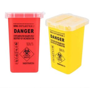문신 의료 플라스틱 Sharps 컨테이너 Biohazard 바늘 처리 폐기물 상자 문신 용품 및 모든 전문 아티스트